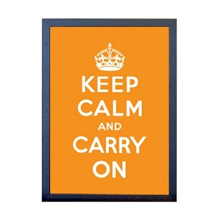 KEEP CALM 포스터 - 오렌지