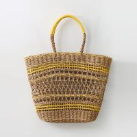 Rattan Yellow Bag