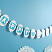 페이퍼 생일 클래식가랜드(블루)