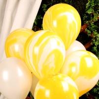 30cm 마블 풍선(5개입) 옐로우