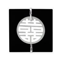 [인디고샵] 그레이 전통 문양 원형 [텍] (10개)