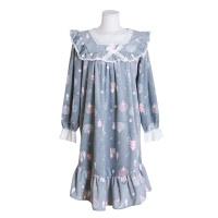 [쿠비카]극세사 원피스 스퀘어넥 여성잠옷 W528