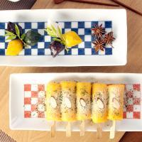 일본식기 파나마 긴사각접시