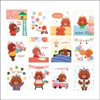 곰돌이 생일 카드 FT5048 (12종 한세트)