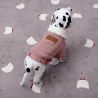 [펫딘]코듀로이 양털카라 똑딱이 강아지옷자켓IP E011