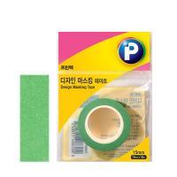 [프린텍] DM08-1510_디자인마스킹 테이프/초록/15mmx10m