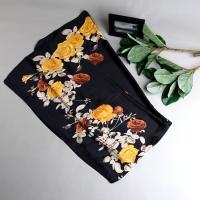 [더로라]실키 스카프- 실키 노란장미 S9074-4