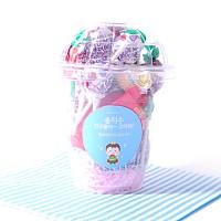 밀크나라 리본왕자 선물포장 24개셋트(투명컵)