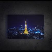 [LED 캔버스 조명액자] 도쿄타워의 야경