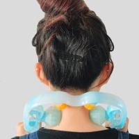 바디온 셀프 목 안마기(블루) 경추 어깨 지압기