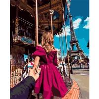 DIY 명화그리기세트 - 에펠탑데이트 컬러캔버스
