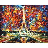 DIY 명화그리기세트 - 파리의 에펠탑 컬러캔버스