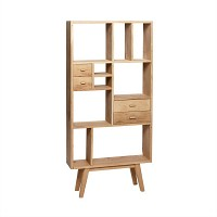 [Hubsch]Shelving unit, oak, nature 888016 수납장