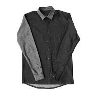 [게타] Getta Accent color denim shirt (black)