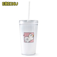 에비츄 아이스텀블러 찌부됐츄 - 분홍