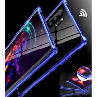 갤럭시노트9 10 10+ 메탈 하드 강화유리 투명케이스