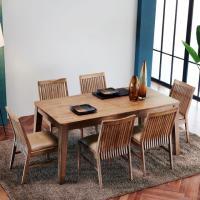 이홈데코 바게트 원목 식탁 세트 6인용 의자형