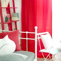 coloration metal ring curtain - red S(100cm*150cm)