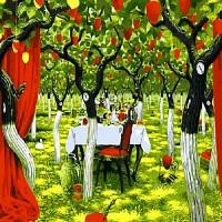 [DIY명화]Q540 딸기나무와시간 size 50*40cm