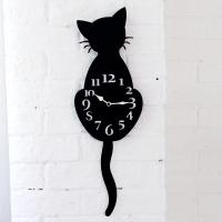 시크고양이벽시계