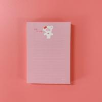 [호호문방구] 만쩜노트 핑크라인 - A6 떡메모지