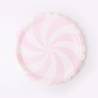 롤리팝 파티접시 18cm - 핑크(6입)