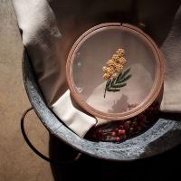 프랑스자수 투명자수액자 DIY 키트 - 은엽 아카시아