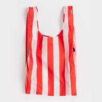 [바쿠백] 대형 빅사이즈 에코백 장바구니 Red Stripe