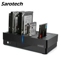 새로텍 4Bay 도킹스테이션 SD-40US3-6G 단품 (3.5 HDD/2.5 HDD&SSD 지원 / SATA3 6G / USB3.0 & eSATA 콤보 / 개별 전원 스위치)