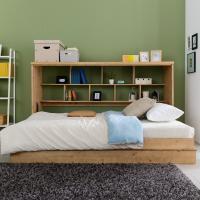 히든스페이스 위드 접이식 슈퍼싱글 침대+수납책장형 df060