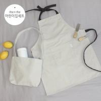 [데이데이]어린이집 세트(양면 에코 크로스백+심플 미니 앞치마)