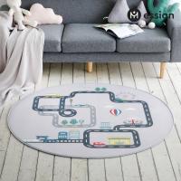 자동차 플레이 도로매트 놀이매트 (원형)