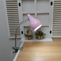[LAMPDA]스프링 LED 집게 스탠드 (핑크)