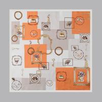 Silk Frame Square Petit Scarf
