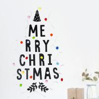 메리 크리스마스 타이포 팰트 벽트리 전구 세트