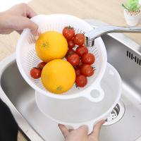 주방 과일채소 세척 배수채반 워시볼 바구니 2P세트
