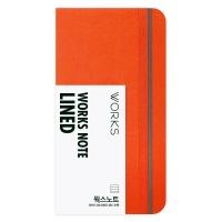 [무료 이니셜각인]웍스 노트 라인드 03 오렌지 레드 포켓