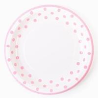 라인도트 파티접시 23cm - 핑크(6입)