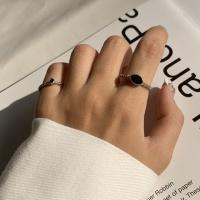 블랙 피스 레이어드 반지