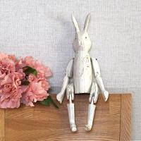 관절 목각 토끼(화이트 대)