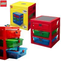 [LEGO] 3단 서랍형정리함 레드/ 정품 레고놀이판 포함