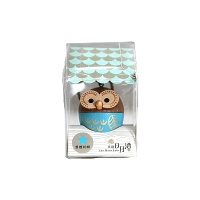 [WOODERFUL LIFE] BLUE OWL KEY RING