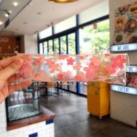 문쓰프렌즈 3 슬림 투명펜슬케이스 -벚꽃