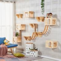 [봉봉펫닷컴] 고양이 설치형 나무 벽걸이 캣타워