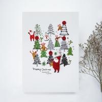 크리스마스카드/성탄절/트리/산타 트리 풍경 FS207-1