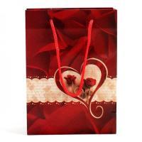 커플와인잔선물용 로즈 쇼핑백1P(색상랜덤)