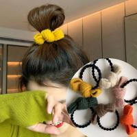 이리시 여성 겨울 니트 고무줄 머리끈 5개세트