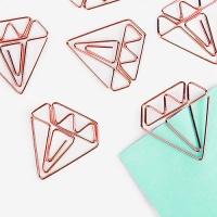 [인디고샵]  로즈골드 다이아몬드 클립 (5개)