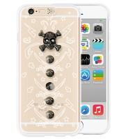 i-phone 6 Clear White skull (Wild)