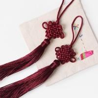 적자색 전통 매듭 노리개 (2개)
